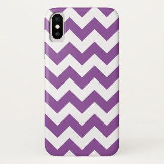 Capa Para iPhone X Teste padrão roxo de Chevron do ziguezague