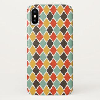 Capa Para iPhone X Teste padrão tribal da forma do ikat moderno