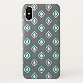 Capa Para iPhone X Teste padrão tribal do ikat retro geométrico