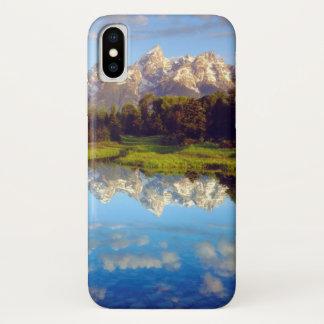 Capa Para iPhone X Tetons grande que reflete no rio Snake