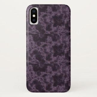 Capa Para iPhone X Textura de mármore roxa