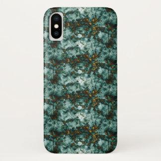 Capa Para iPhone X Textura de mármore verde com veias