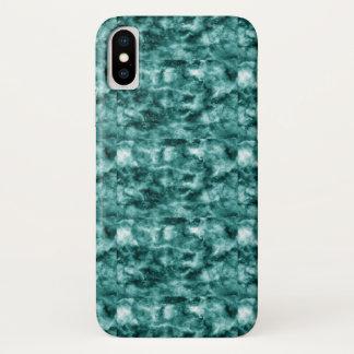 Capa Para iPhone X Textura de mármore verde escuro