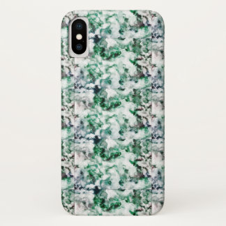Capa Para iPhone X Textura marmoreada de quartzo