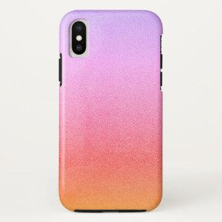Capa Para iPhone X Textura visual Ombre da areia cor-de-rosa do