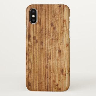Capa Para iPhone X Texturas de madeira, impressão, natureza
