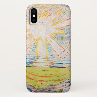Capa Para iPhone X The Sun por Edvard Munch