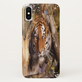 Capa Para iPhone X Tigre escondido! (Olhar sujo)
