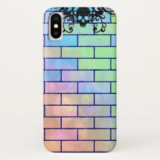 Capa Para iPhone X Tijolos coloridos do crânio