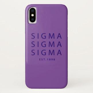 Capa Para iPhone X Tipo moderno do Sigma do Sigma do Sigma