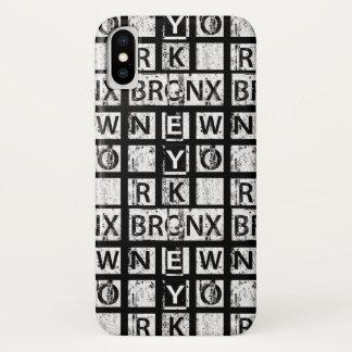 Capa Para iPhone X Tipografia do Grunge de Bronx New York |