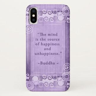 Capa Para iPhone X Tipografia inspirada das citações de Buddha