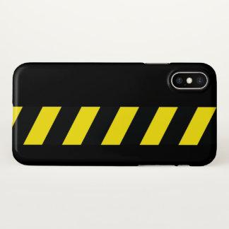 Capa Para iPhone X Tira de advertência