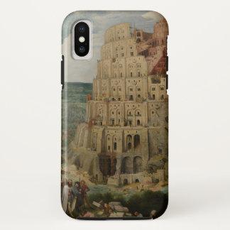 Capa Para iPhone X Torre de Babel por Pieter Bruegel a pessoa idosa,