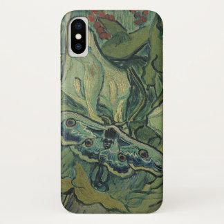 Capa Para iPhone X Traça verde do pavão de Van Gogh (imperador),