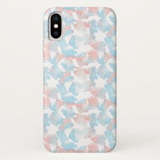 Capa Para iPhone X Traços cor-de-rosa de turquesa