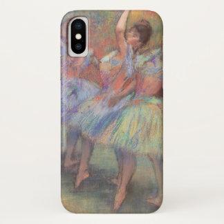 Capa Para iPhone X Três dançarinos por Edgar Degas, arte do balé do