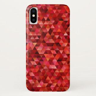 Capa Para iPhone X Triângulos sangrentos