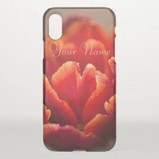 Capa Para iPhone X Tulipa vermelha