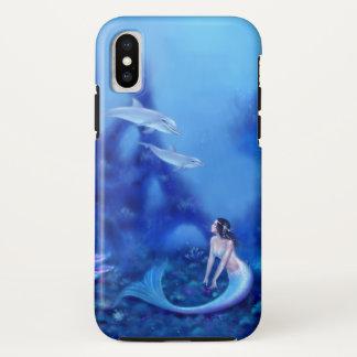 Capa Para iPhone X Ultramarine - sereia e golfinhos