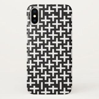 """Capa Para iPhone X Um b&w modela feito com """"mais"""" o sinal"""