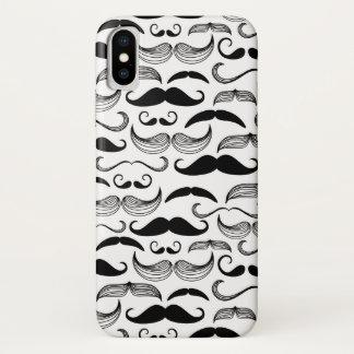 Capa Para iPhone X Um clube dos cavalheiros. Teste padrão 2 do bigode