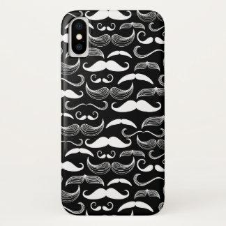 Capa Para iPhone X Um clube dos cavalheiros. Teste padrão do bigode