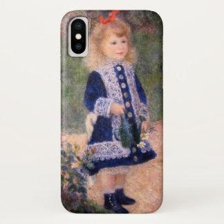 Capa Para iPhone X Uma menina com uma lata molhando por Renoir