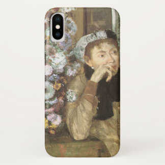 Capa Para iPhone X Uma mulher com os crisântemos por Edgar Degas