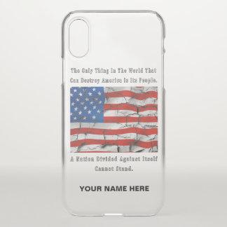 Capa Para iPhone X Uma nação dividida (palavras esboçadas)