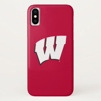 Capa Para iPhone X Universidade de Wisconsin | do logotipo de