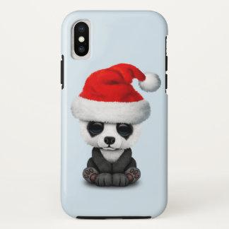 Capa Para iPhone X Urso de panda do bebê que veste um chapéu do papai