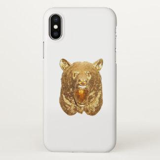 Capa Para iPhone X Urso do ouro