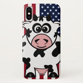 Capa Para iPhone X Vaca americana