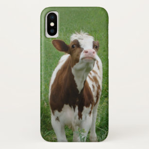 Capa Para iPhone X Vaca de leite da leiteria na fazenda