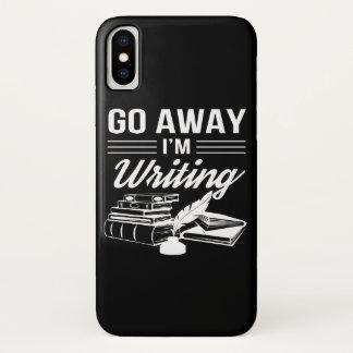 Capa Para iPhone X Vai afastado o presente engraçado escrevendo Im