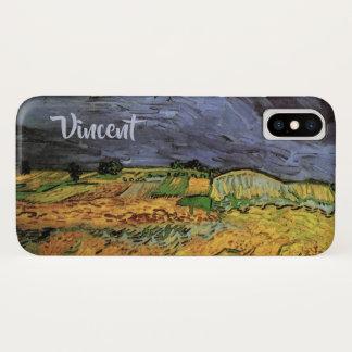 Capa Para iPhone X Van Gogh os campos, belas artes da paisagem do