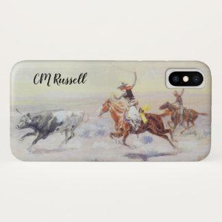 Capa Para iPhone X Vaqueiros do triângulo do bar por CM Russell