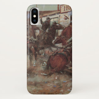 Capa Para iPhone X Vaqueiros do vintage, dentro sem bater por CM