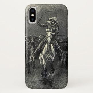 Capa Para iPhone X Vaqueiros do vintage, um debandada por Frederic