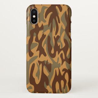 Capa Para iPhone X Verde militar do marrom do exército do impressão