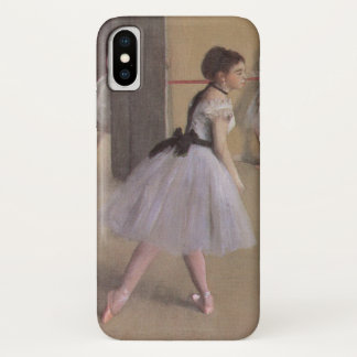 Capa Para iPhone X Vestíbulo da dança na ópera por Edgar Degas