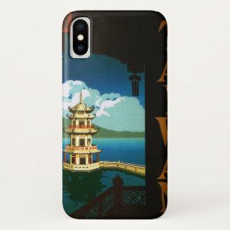 Capa Para iPhone X Viagens vintage torre estratificado do pagode de