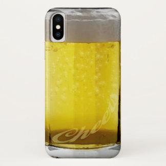 Capa Para iPhone X Vidro de cerveja engraçado