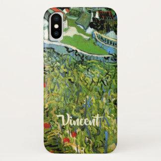 Capa Para iPhone X Vinhedos de Van Gogh com Auvers, belas artes do