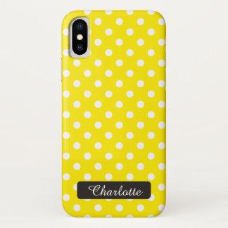 Capa Para iPhone X Vintage amarelo ensolarado personalizado das