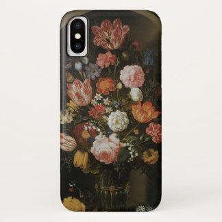 Capa Para iPhone X Vintage barroco, parte de flor por Bosschaert,
