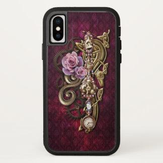 Capa Para iPhone X Vintage Steampunk Jeweled feminino floral