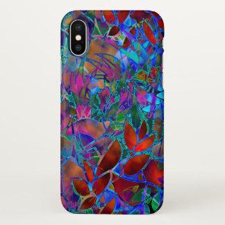 Capa Para iPhone X vitral abstrato floral do caso do iPhone X