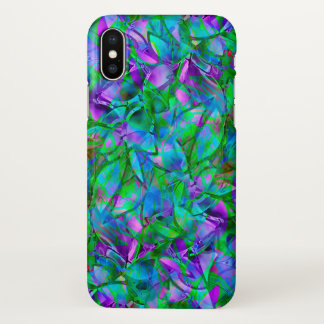 Capa Para iPhone X vitral abstrato floral do caso do iPhone X